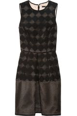 Tibi Wool Blend Jacquard Dress - Lyst