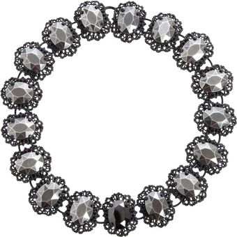 Bottega Veneta Blackened Silver Faceted Link Necklace - Lyst