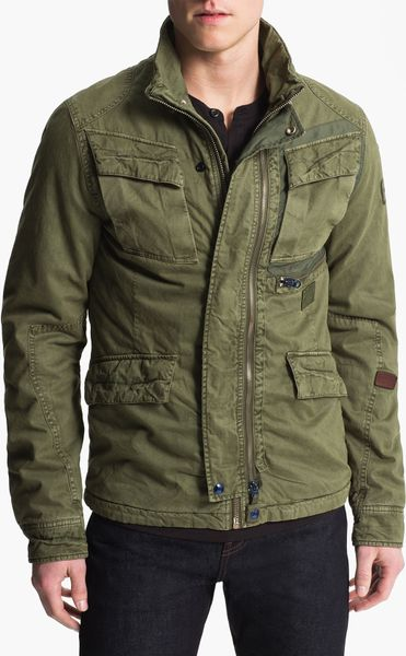 G star raw aero field jacket in for men sage lyst for Nordstrom men s dress shirt fit guide