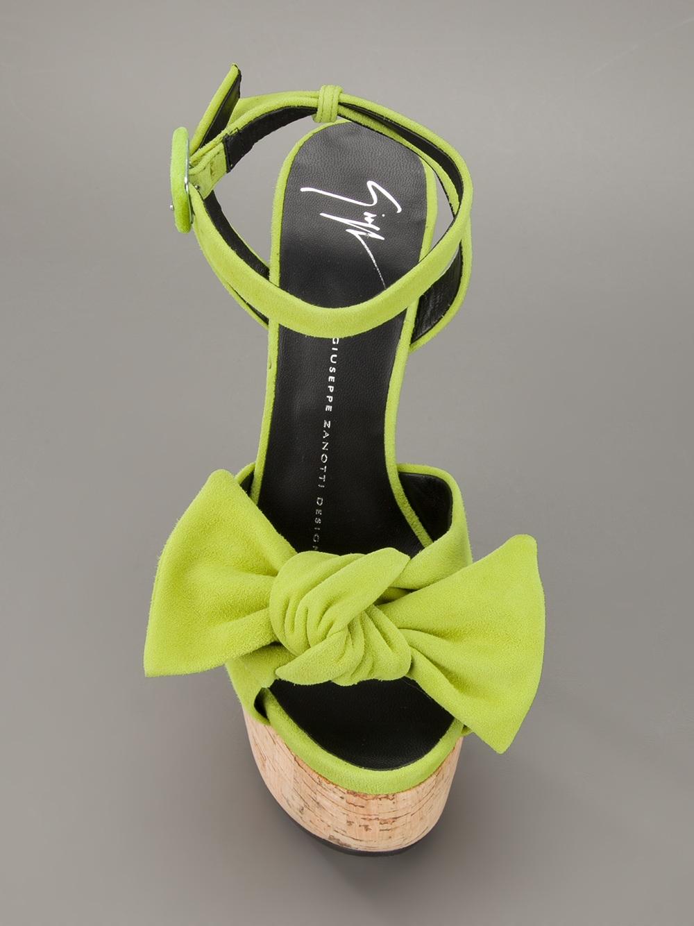 giuseppe zanotti heels with bow