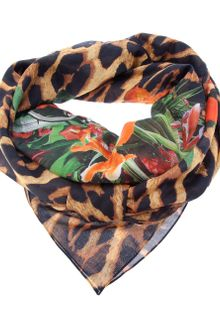 Givenchy Leopard and Flower Print Scarf - Lyst