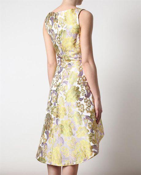 Brocade Dress in Gold gr