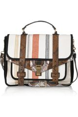 Proenza Schouler Ps1 Large Leather and Canvas Shoulder Bag - Lyst