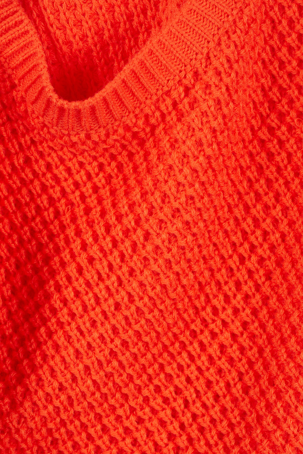Topshop Knitted Textured Stitch Jumper in Red Lyst