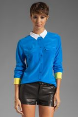 Slim Signature Colorblock Blouse