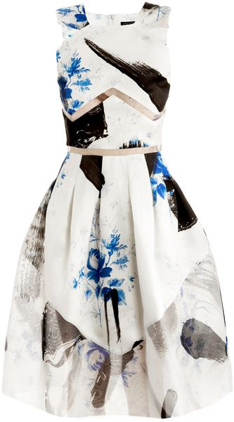 Christopher Kane Dutchprint Princess Dress - Lyst