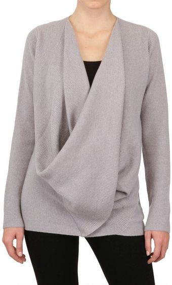 Donna Karan New York Ribbed Cashmere Knit Sweater - Lyst