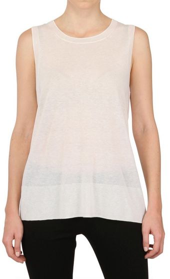 Donna Karan New York Light Weight Cashmere Knit Top - Lyst