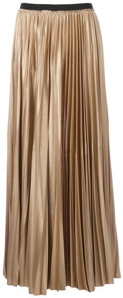 Enza Costa Pleated Maxi Skirt - Lyst