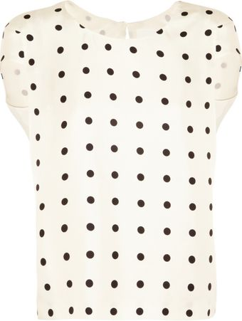 J.Crew Polka Dot Silk Twill Top - Lyst