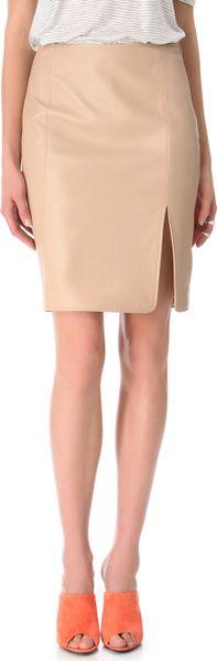 Jenni Kayne Seam Skirt in Beige (nude) - Lyst