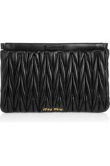 Miu Miu Leather Clutch - Lyst