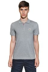 Moncler Cotton Piquet Slim Fit Polo - Lyst