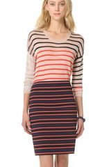 Sonia By Sonia Rykiel Stripe Long Sleeve Sweater - Lyst