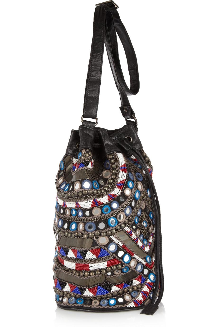 Lyst Antik Batik Orelia Embellished Shoulder Bag In Black
