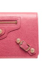 Balenciaga Money Leather Long Wallet in Pink - Lyst