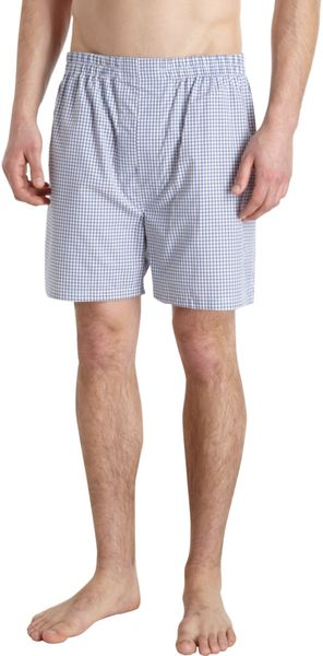 Barneys New York Windowpane Check Boxers - Lyst