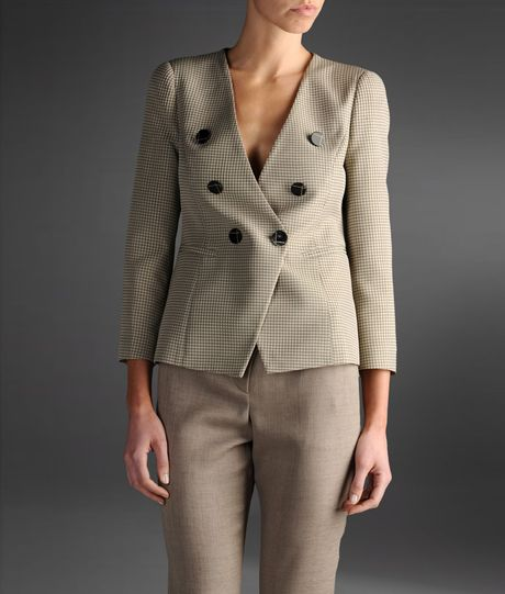Emporio Armani Doublebreasted Jacket in Gray (grey) - Lyst