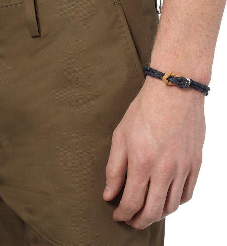 Miansai Silver Hook Leather Bracelet Silver Hook Wrap Bracelet