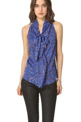 See By Chloé Tie Neck Printed Blouse - Lyst