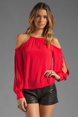 BCBGMAXAZRIA Long Sleeve Blouse - Lyst