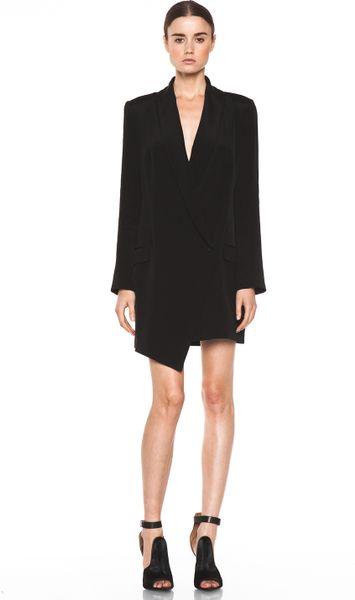 Haute Hippie Extra Long Blazer Dress In Black Lyst