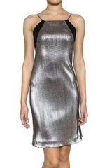 Karl Lagerfeld Paris Interlocking Metallic Techno Dress - Lyst