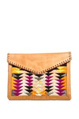 Lizzie Fortunato Leather and Calf Hair Clutch - Lyst
