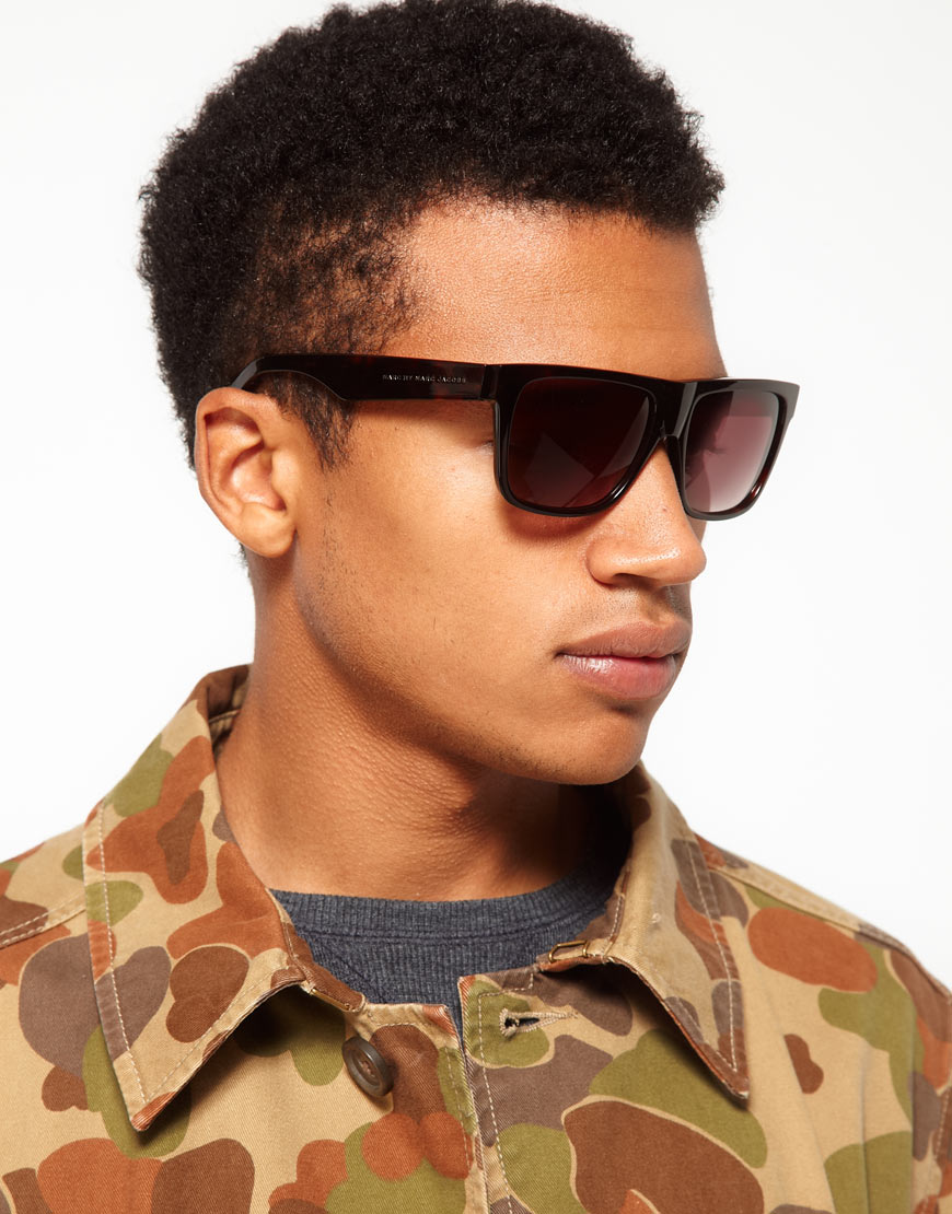 Marc Jacobs Mens Sunglasses  marc by marc jacobs flat brow sunglasses in brown for men lyst