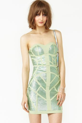 Nasty Gal Sequin Maze Dress - Lyst