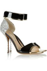 Nicholas Kirkwood Elaphe Metallic and Patent Leather Sandals - Lyst