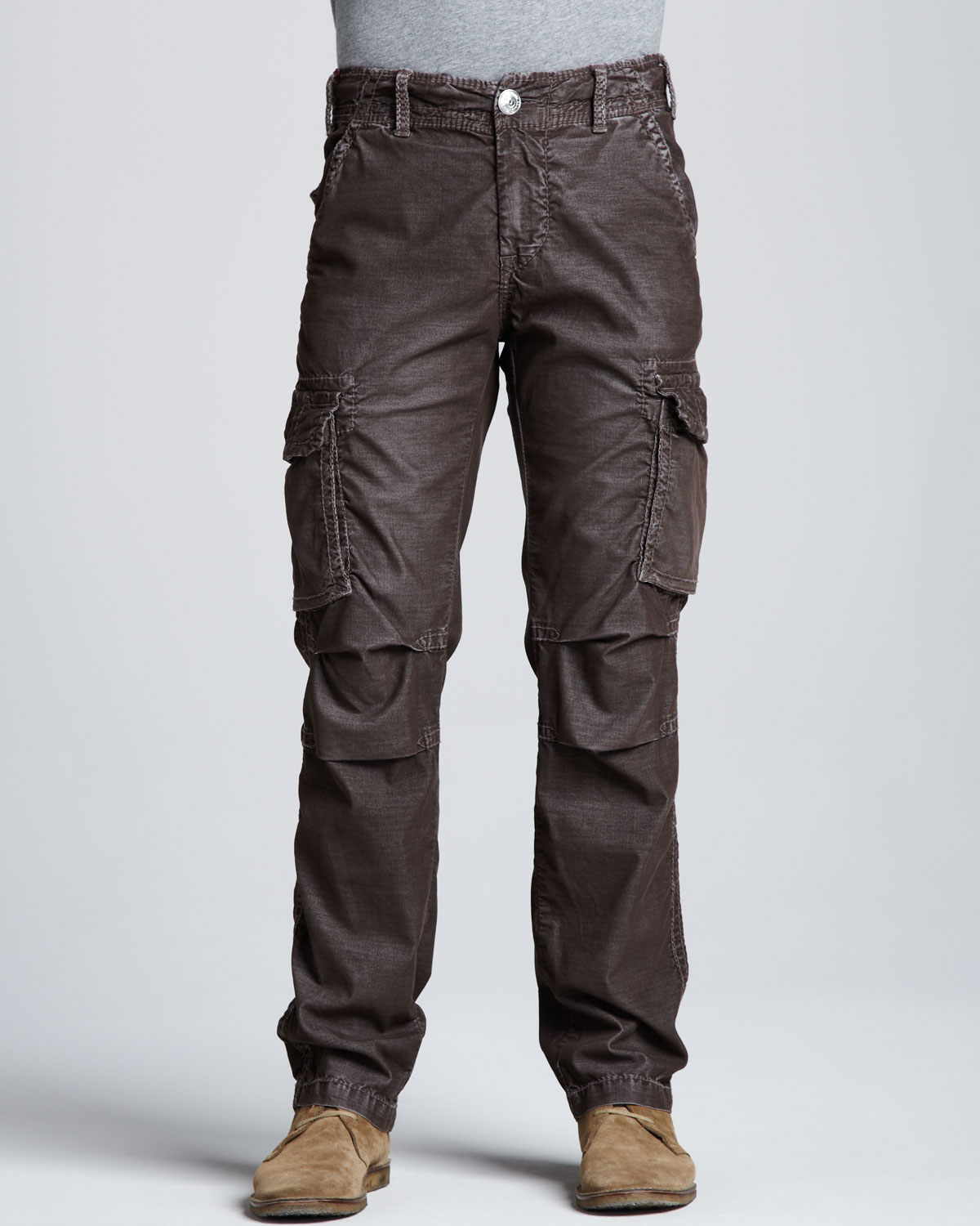 True religion Anthony Corduroy Cargo Pants Brown in Brown for Men ...