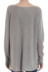 Vince Boatneck Sweater in Gray (steel) - Lyst