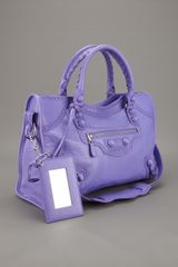 Balenciaga Brogue City Tote in Purple (mauve) - Lyst