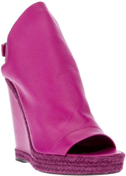 Balenciaga Wedge Boot in Purple