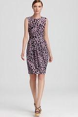 Moschino Cheap & Chic  Ruched Leopard Dress - Lyst