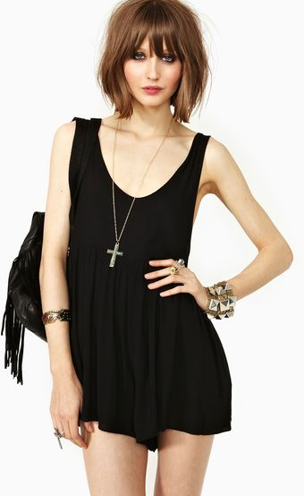 Nasty Gal Low Back Romper - Lyst