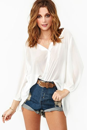 Nasty Gal Great Divide Blouse  - Lyst