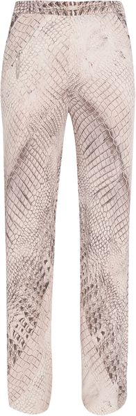 Willow Croc Print Panelled Pants - Lyst