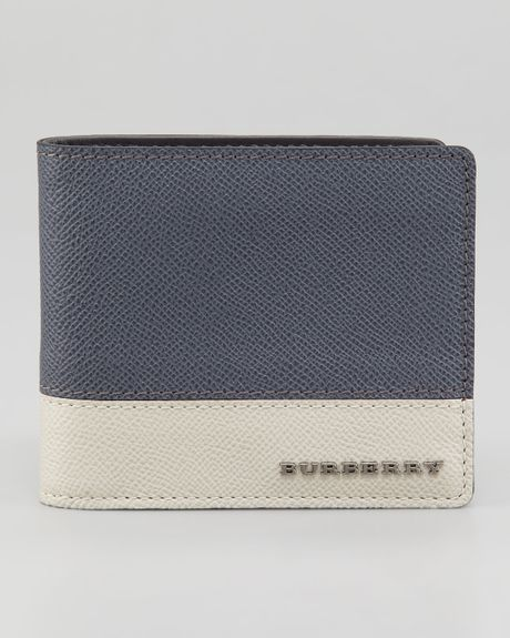 Burberry Tricolor Leather Wallet in Gray for Men (mid grey) - Lyst