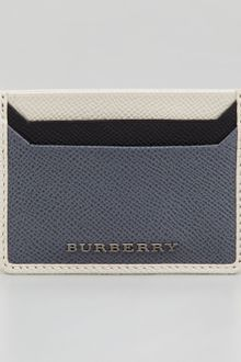 Burberry Tricolor Leather Card Case - Lyst