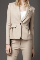 Burberry Tailored Peplum Jacket - Lyst