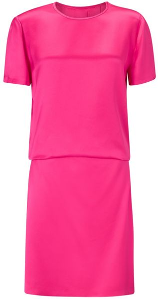 Cedric Charlier Silk Cut Out Dress - Lyst