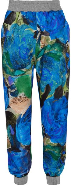 Christopher Kane Printed Cotton-Jersey Track Pants - Lyst