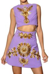 Fausto Puglisi Embroidered Wool Crepe Top - Lyst