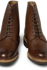 Grenson Hadley Pebble Grain Leather Boots in Brown for Men - Lyst