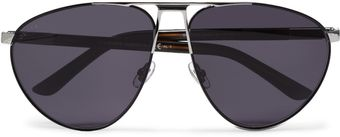 Gucci Polarised Metal Aviator Sunglasses - Lyst