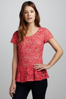 Madison Marcus Lace Peplum Top Stylist Pick - Lyst