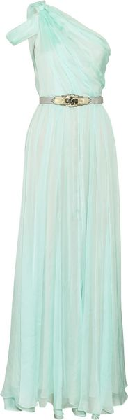 Matthew Williamson Pleated Silk Chiffon Gown - Lyst