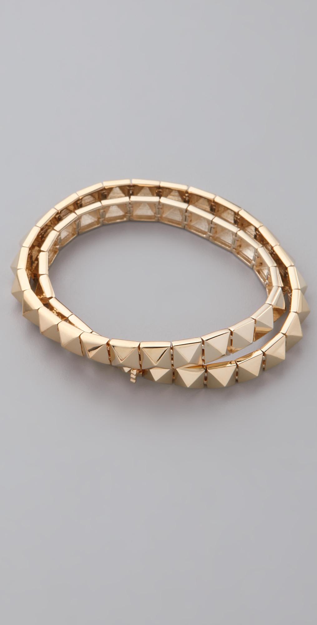Lyst Noir Jewelry Pyramid Bracelet In Metallic